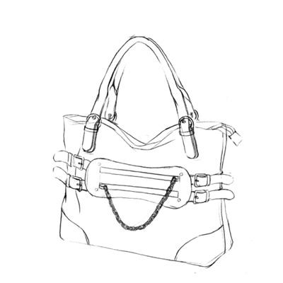 包 包包 简笔画 挎包手袋 女包 手绘 手提包 线稿 750