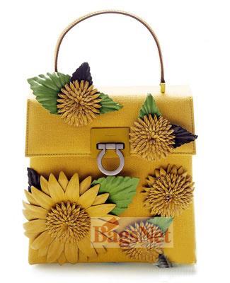 向日葵装饰手袋