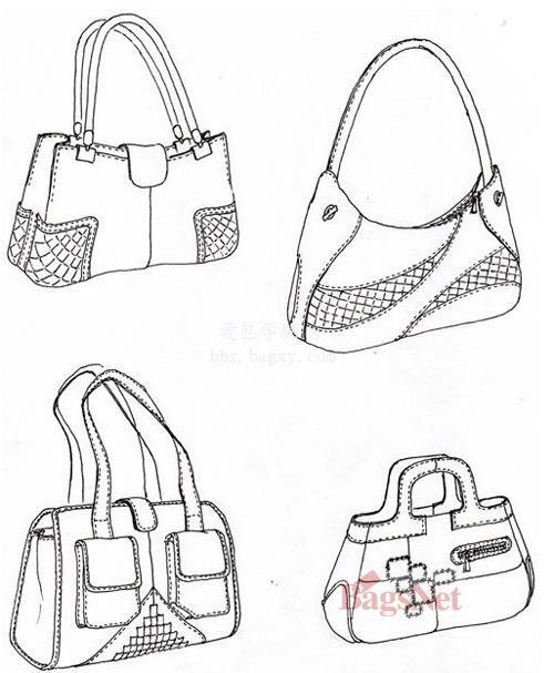 手绘包包设计图案