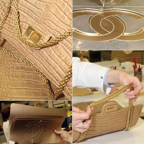 经典链条包手工制作过程