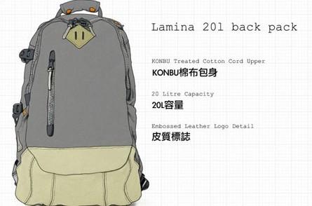 日本潮流品牌visvim 夏季背包设计图